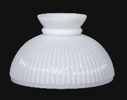 "10"" Opal Glass Student Shade, Ribbed"