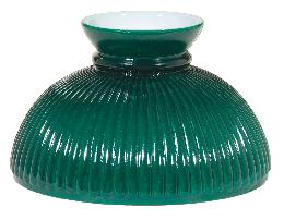 "10"" Opal Glass Ribbed Green Student Shade"