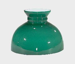 "10"" Opal Glass Green Cased Student Shade"
