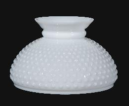 "10"" Opal Glass Hobnail Shade"