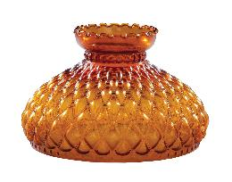 "10"" Amber Glass Diamond Quilted Shade"