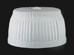 "11 3/4"" dia., Satin Opal Pleated Drapes Pairpoint Shade"