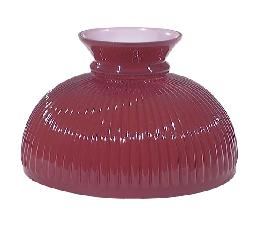 "10"" Cased Ruby Glass Rib Shade"