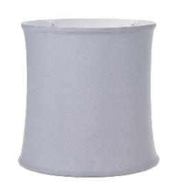 Grey Color Linen, Deep Drum Softback Shade