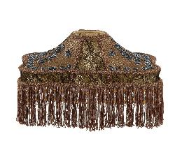 Beadwork & Stipple Embroidery Table Shade