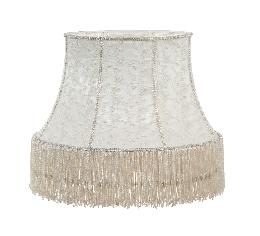 Victorian Style Ivory Lace and Fringe Lamp Shade