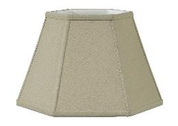 Beige Fine Linen Hexagon Lamp Shade