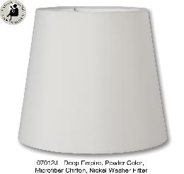 Pewter Color Deep Empire Lamp Shades