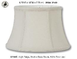 Light Beige Color Shallow Drum Floor Lamp Shades, 100% Fine Linen