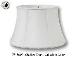 Off White Color, Shallow Drum Lamp Shades