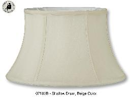 Beige Tissue Shantung Floor Lamp Shallow Drum Shade