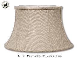 Driftwood Color Burlap Softback Shallow Drum Shade