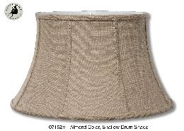 Almond Color, Burlap Softback Shallow Drum Lamp Shade