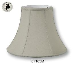 Beige Color Deluxe Bell Lamp Shades, 100% Fine Linen