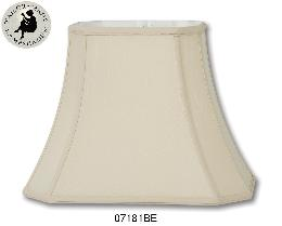 Beige Tissue Shantung Cut Corner Rectangle