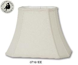 Eggshell Cut Corner Rectangle- Fine Linen