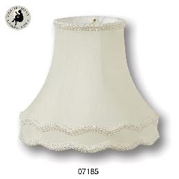 Eggshell Deluxe Gallery Bell with Gimp Trim- Tissue Shantung