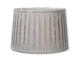 Natural Color Linen Drum Box Pleat Softback Shades