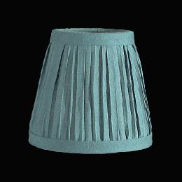 "4"" dia. Pleated Fabric Shade, bulb clip"
