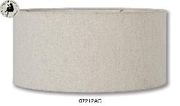 Natural Linen Mid-Century Shallow Drum Hardback Shade, Clear Lining