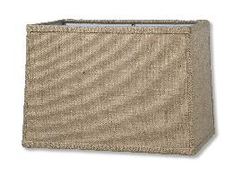 Almond Burlap Rectangle Hardback Shades