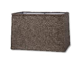 Charcoal Brown Burlap Rectangle Hardback Shades
