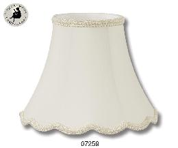 Eggshell Color, Deluxe Scallop Bell Lamp Shades