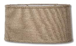 Almond Color Burlap Retro Oval Hardback