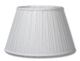 White Ivory Linen Empire Box Pleat Softback Shades