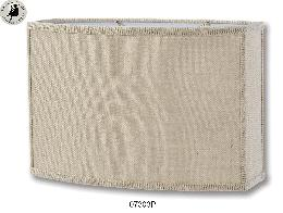 Putty Burlap Cut Corner Oval Shade