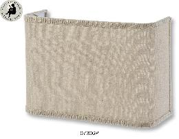 Half Lamp Shades for Sconces and Bed Side Lamps - Driftwood Color, Burlap material