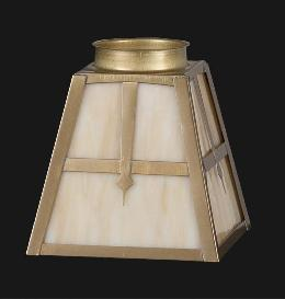 Arts & Crafts Stained Glass Fixture Shade