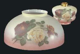 "14"" USA-made English Roses Dome Shade and Font"