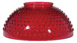 "14"" Ruby Hobnail Dome Shade"