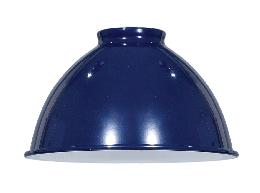 Blue Enamel Industrial Style, Metal Dome Lamp Shades