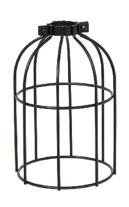 "Clamp-On Style Wire Light Bulb Cage, 7-3/8"" ht, Satin Black Finish"