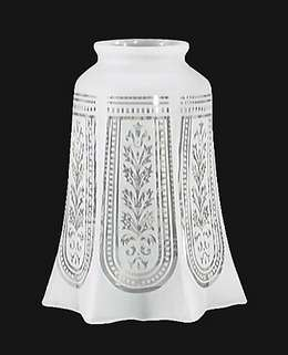 Long Etched Filigree Fixture Shade