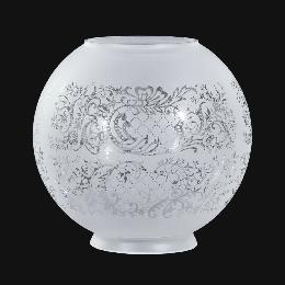 "8"" Satin Etched Ball Shade, Floral Scene"