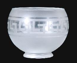 Greek Key Design Gas Shade