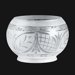 Large Hand Engraved Victorian Shade
