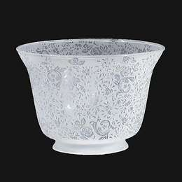 Victorian Lace Etched Gas Shade