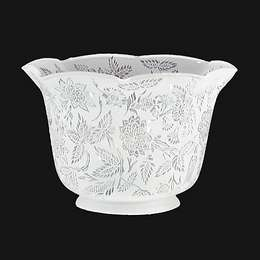 Victorian Floral Etched Gas Shade