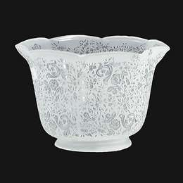 Crimped Victorian Lace Etched Gas Shade