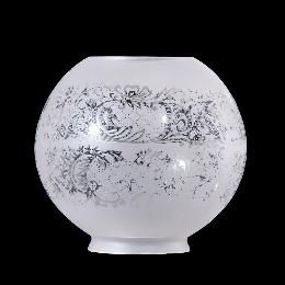 "8"" ""Floral Panels"" Etched Glass Gas Shade"