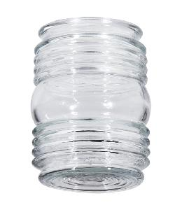 "4 1/2"" Clear Retro Utility-Type Glass Shade"