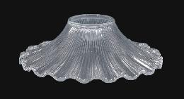 "7 1/2"" Clear Pressed Glass Petticoat Shade"