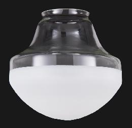 "14"" Special Half-Frost Industrial Style Pendant Shade, 6"" fitter"