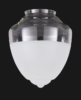 "8"" Special Half-Frost Industrial Style Pendant Shade, 4"" fitter"