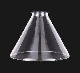 7 Clear Glass Deep Cone Shade 2 1 4 Fitter 08807c B Amp P
