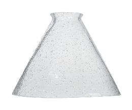 "2-1/4"" fitter, Seeded Clear Pendant Shade, 7-3/16"" dia. x 5-3/8"" height"